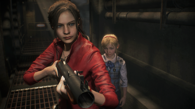 Claire Meets Remastered Mr X in Resident Evil 2 Remake Gameplay
