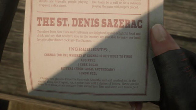 Join Us in a New Year's Toast With RDR2's Saint Denis Sazerac