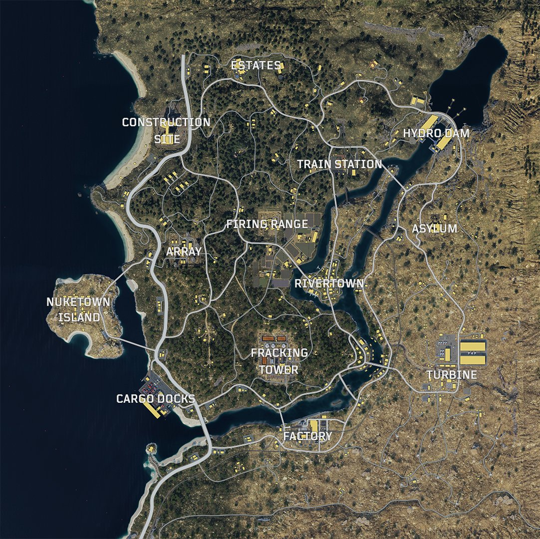 Call of Duty Blackout Map Guide - Orte, Drop Points, Zombie ... Zombie Map on