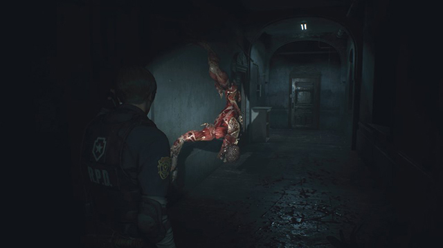 It's Leon Versus the Lickers in Resident Evil 2