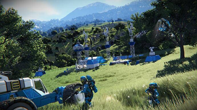 Sandbox construction and exploration game Space Engineers