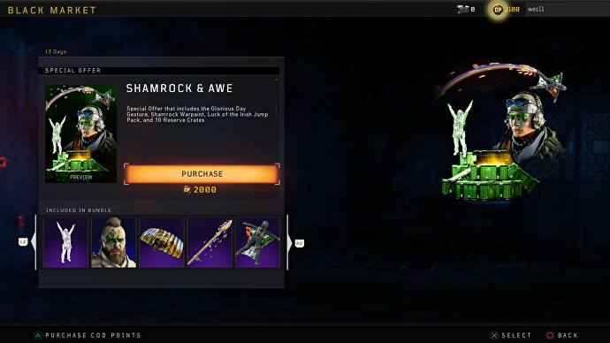 Call of Duty: Black Ops 4's Shamrock & Awe event gives