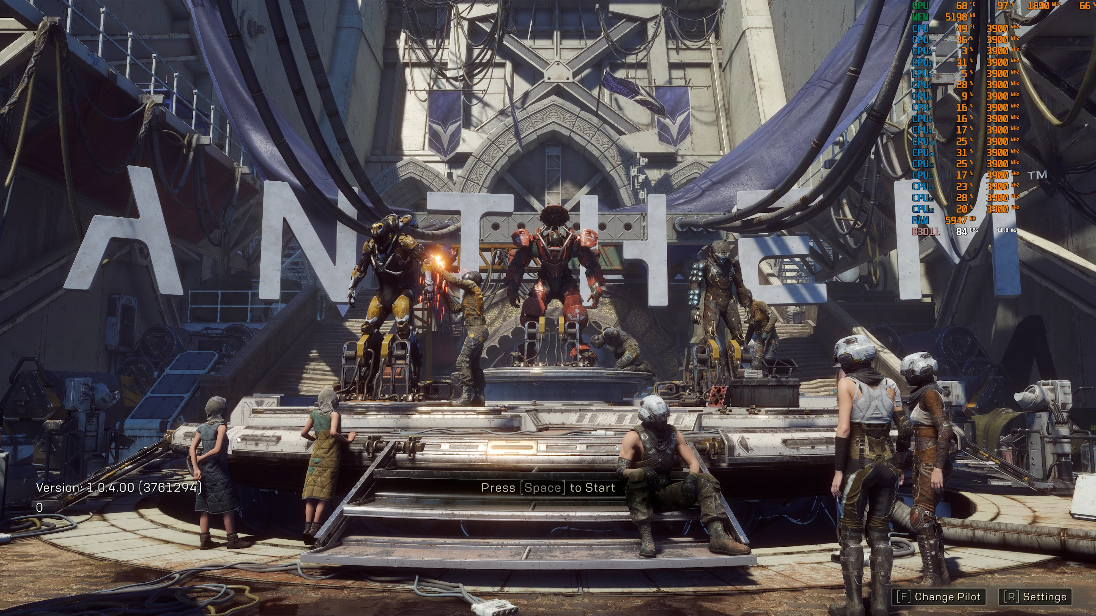 Anthem's PC performance is improved by up to 65 per cent