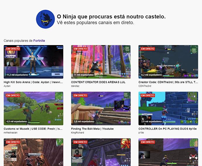 Twitch uses Ninja channel to promote other streamers