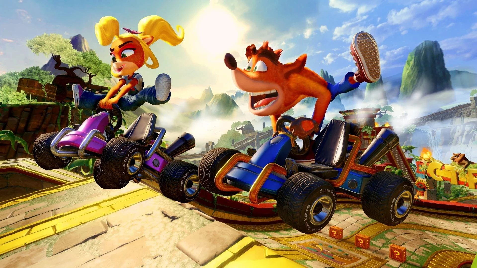 Crash Team Racing limps to the top of the UK chart