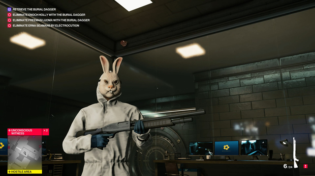 Agent 47 Becomes Bunny Bank Robber for Hitman 2 Bank Escalation