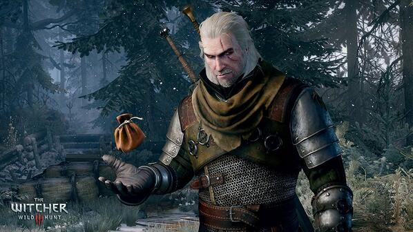 THE WITCHER GERALT OF RIVIA GAMER SERIES NEW T SHIRT EVIL IS EVIL WILD HUNT EPIC