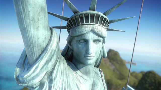 Jane Steals the Statue of Liberty in Tropico 6