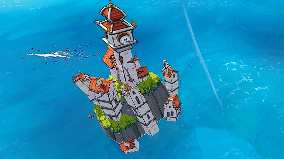 Flotsam is a beautiful sim where you salvage your own floating island