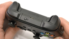 Matte plastics and a rougher surface give extra purchase on the triggers and bumpers.