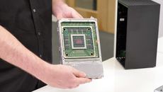 Series X uses a split motherboard design - two boards sit on either side of an aluminium chassis block.