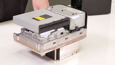 Along with the heat sink, the optical disc drive also helps to define the overall form factor.