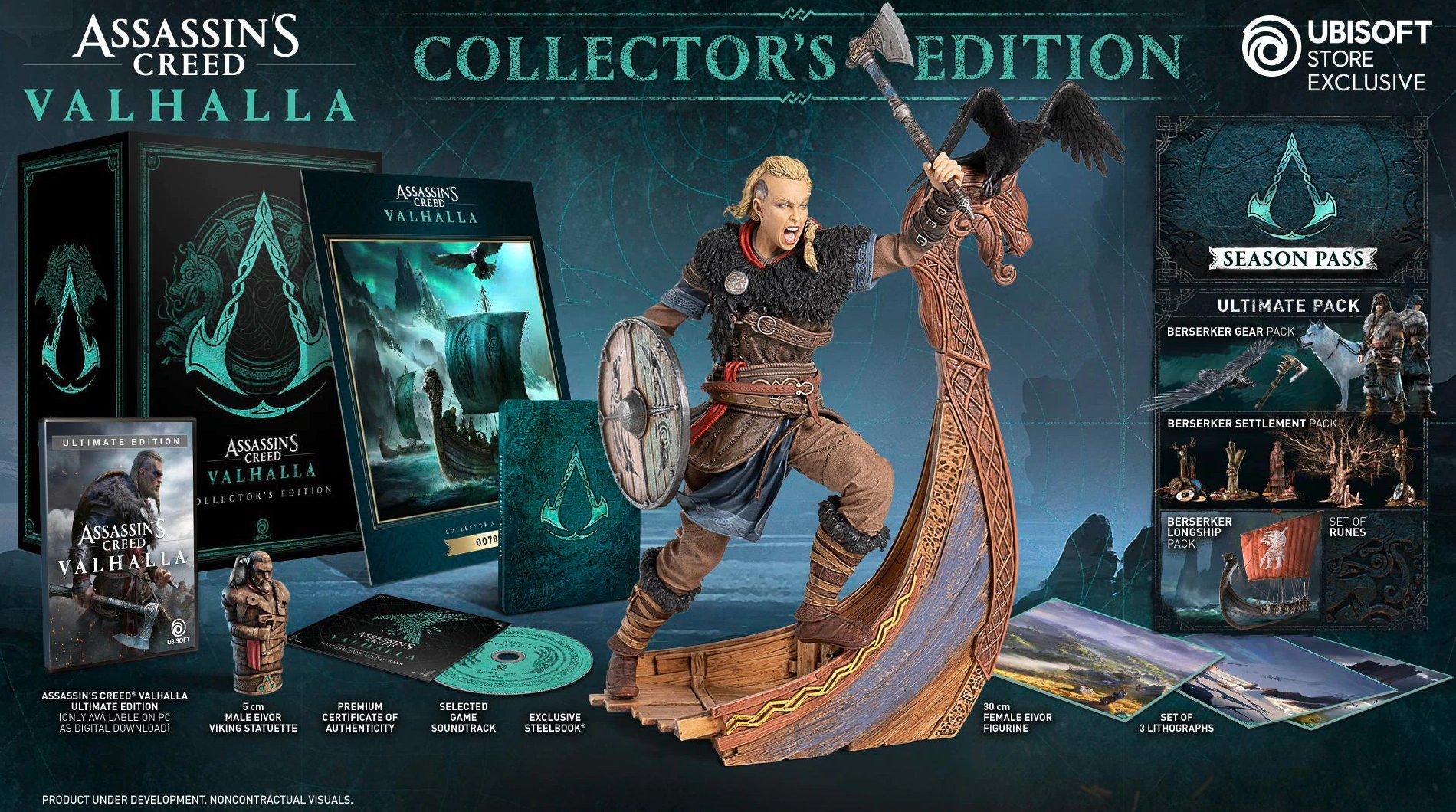 Assassin S Creed Valhalla Female Eivor Revealed As Collector S Edition Statue Den Of Geek