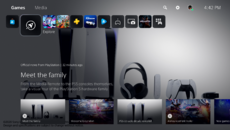 Curated news from PlayStation is also a part of the UI - but at launch, it's not available to all users worldwide.