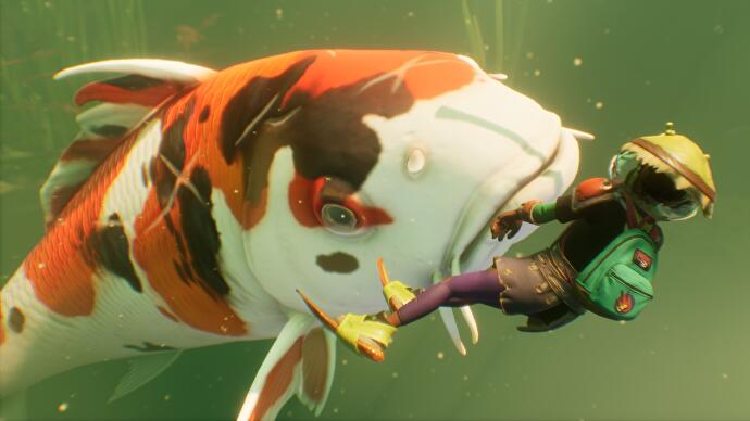 Grounded's opening up its koi pond for underwater adventure in latest update