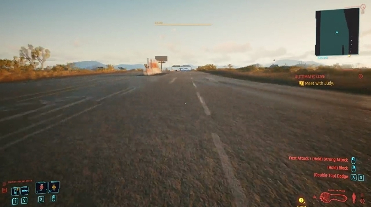 Cyberpunk 2077 players are using a dodge glitch to run so fast the cars won't load