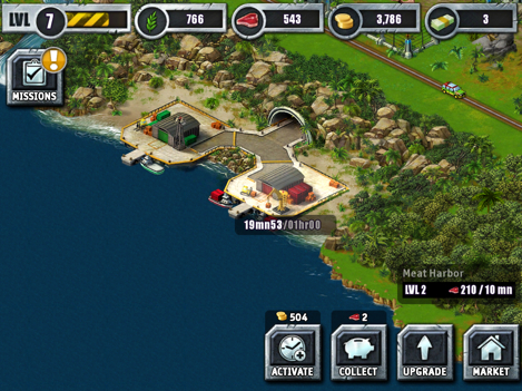 Jurassic park builder cheats and tips modojo you cant level up dinosaurs without food and harbors dont produce food without gold with this in mind its a smart idea to max out both harbors gumiabroncs Choice Image