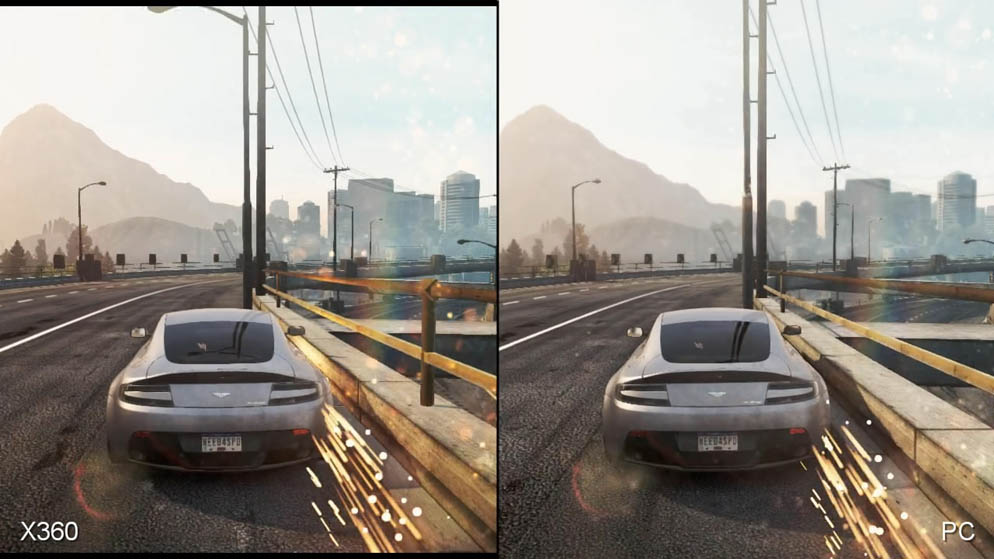 Need for Speed: Most Wanted - PC vs  Xbox 360 Video
