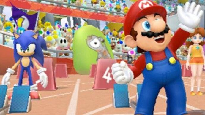 Mario & Sonic launches with new Blue Wii