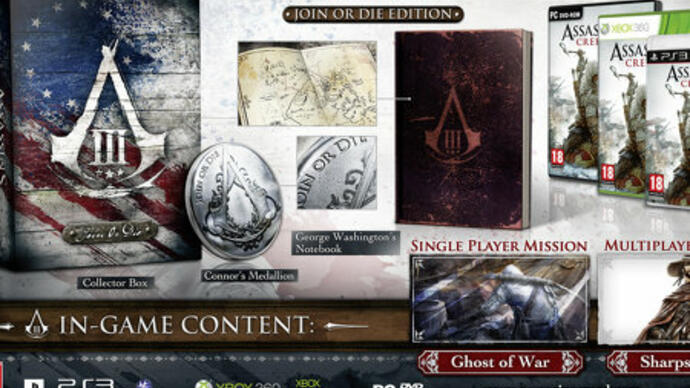 Assassin's Creed 3 special editions announced