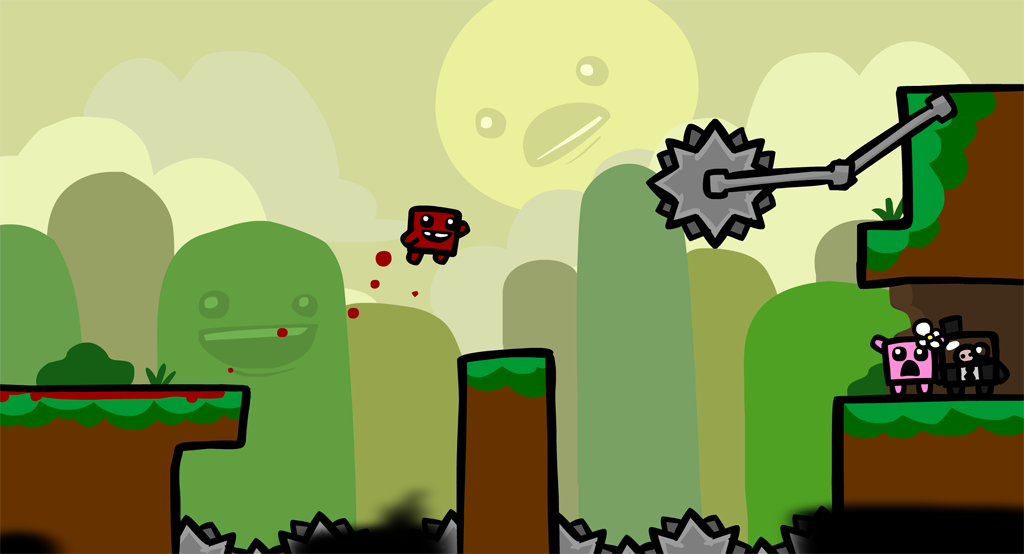 'Super Meat Boy: The Game announced for iOS' Screenshot 1
