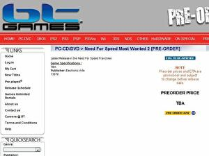 Need for Speed: Most Wanted 2 outed by retailer • Eurogamer net