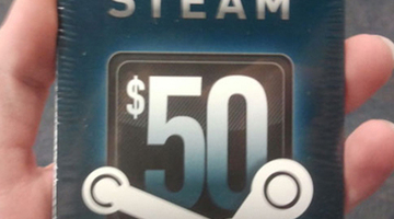 Steam Wallet cards arrive at GameStop