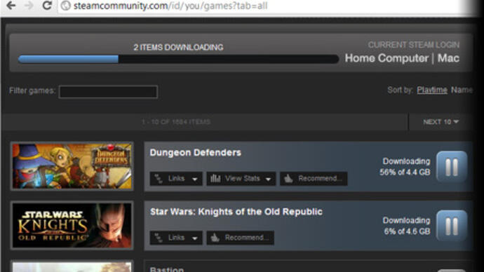 Valve launches Steam remote downloads