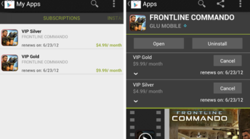 Android games get in-app subscriptions on Google Play