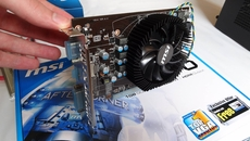 We won't go far without this - the MSI HD 6770 graphics card crucially features 1GB of the higher-bandwidth GDDR5 RAM, and sports DVI, HDMI and VGA outputs. A molex to 6-pin PCIe connector converter also comes included.