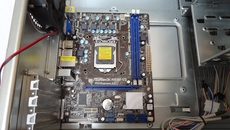 Installation of the MicroATX motherboard is straight-forward. Once the bronze-coloured pins are plotted out on its underside, it takes just six screws to attach to the case.