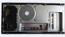 The connection selection on the rear is light compared to some full ATX motherboards, but all the essentials make an appearance; audio jacks, an Ethernet connection, and a further six USB 2.0 ports. The rest is left up to the graphics card.