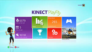 Burn calories with Xbox 360 dashboard app Kinect PlayFit and earn