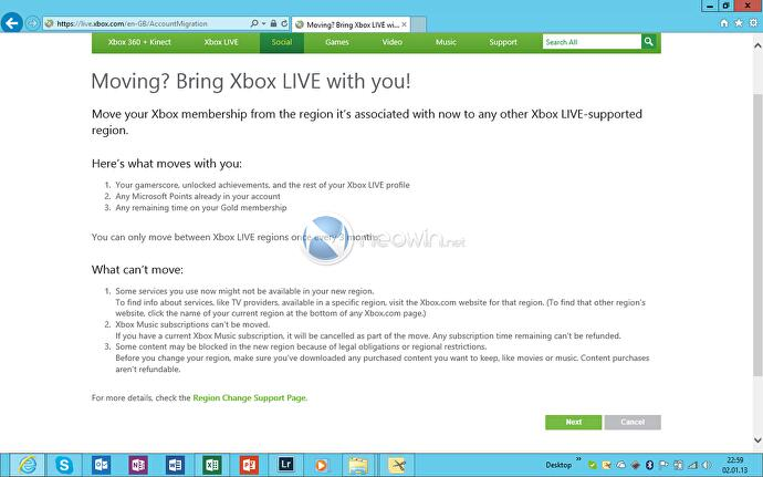 Switching regions on your Xbox Live account to get a whole