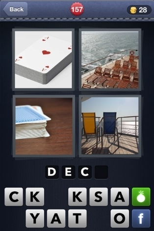 4 pics 1 word cheats 4 letter words part 4 gail sharon abernathy blog bust 4 pics 1 word sand deck expocarfo Gallery