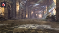 Indoor areas feature a different lighting set-up: bloom is considerably reduced, while static light shafts (created using textured geometry) replace the more computationally heavy real-time alternative found elsewhere.