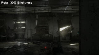 PS4 Retail 30% Brightness