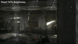 PS4 Retail 50% Brightness