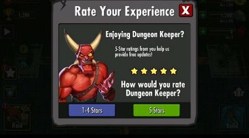 EA filtering out less than 5-star reviews of Dungeon Keeper on Android