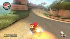 This scene highlights the attention paid to shading, with occluded areas appearing properly shadowed. Also note the subtle glow from the sky and the light source emanating from the kart.