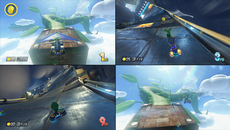Split-screen, even with four players, manages to retain all of the detail visible in single-player. Even object pop-in remains the same between different modes.
