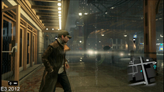 Moving outside, rain effects seem more interactive but the big difference is in how car headlights illuminate the rain in the original reveal - an effect absent on the final version during gameplay.