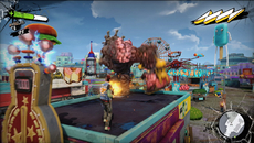 Per-object and full screen motion blur help to hide the frailties of Sunset Overdrive's performance - but only to an extent. Either way, they are stylish additions.