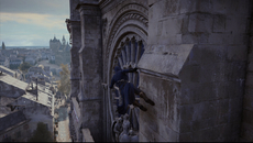 Revised 'line of sight' parkour controls allow our hero Arno Dorian to clamber around structures with a host of new animations - allowing more flexible descents from heights.