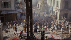 The increased NPC numbers have a practical use, as well as being a technical advance: four players in co-op can approach a target undetected by wading through crowds.