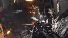 The use of per-object motion blur, as shown on two soldiers here mid-boost, is huge improvement over Ghosts' on PS4 and Xbox One, where the effect was largely absent in play.