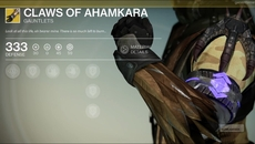 Claws of Ahamkara exotic gauntlets.