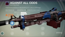 Against All Odds legendary machine gun.