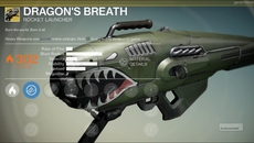 Dragon's Breath exotic rocket launcher.