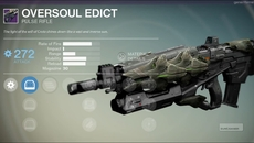Oversoul Edict legendary pulse rifle.